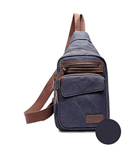 Koreanische Version der freien Masse canvas Taschen Diagonale Brust Pack Blue