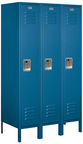 Salsbury Industries 61358BL-U Single Tier 36-Inch Wide 5-Feet High 18-Inch Deep Unassembled Standard Metal Locker, Blue
