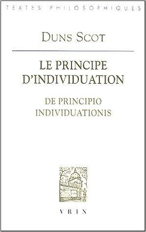 Lire en ligne Le principe d'individuation : De principio individuationis pdf epub