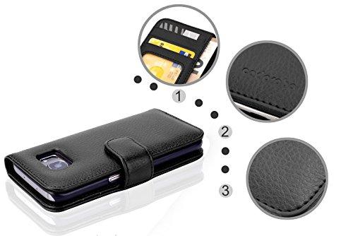Cadorabo - Funda Samsung Galaxy NOTE 4 Book Style de Cuero Sintético en Diseño Libro - Etui Case Cover Carcasa Caja Protección con Tarjetero en BURDEOS-VIOLETA NEGRO-ÓXIDO