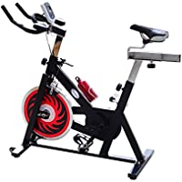 Soozier A90-065 Indoor Stationary Cycling Exercise Bike w/LCD Display (Black & Red)