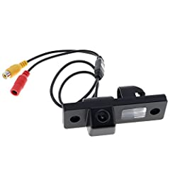 Features: - HD CCD Color rear view camera. - Vertical position adjustable with spacer lines and mirror function. - Supports automatic white balance and backlight compensation. - Can help avoid incidents and accidents abrasion well. - Suitable...