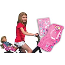 Ride Along Dolly Doll Bike Seat with Decorate Yourself Decals (Fits American Girl and Standard Sized Dolls and Stuffed Animals) Pink