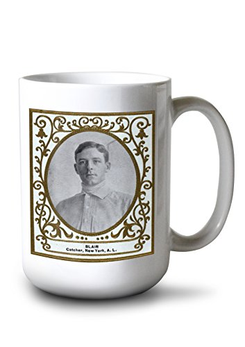 New York Highlanders - Walter Blair - Baseball Card (15oz White Ceramic Mug)