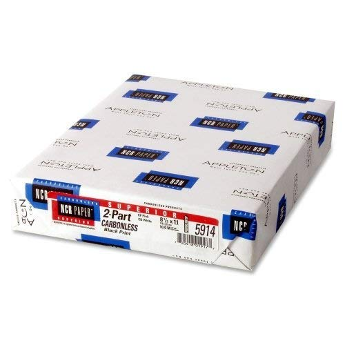 Wholesale CASE of 10 - NCR Paper 2-Part Superior Carbonless Sheets-NCR Paper, Carbonless, 92GE, 2-Part, 8-1/2''x11'', 500SH/PK by Appvion, Inc