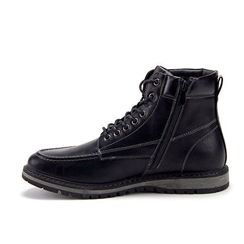 Men's Sneakers Up Casual Jazame Boots Lace Ankle Black Motorcycle Combat BnPAwvTg