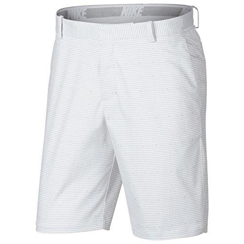 Nike Flex Slim Print Golf Shorts 2018 White/Flat Silver 34