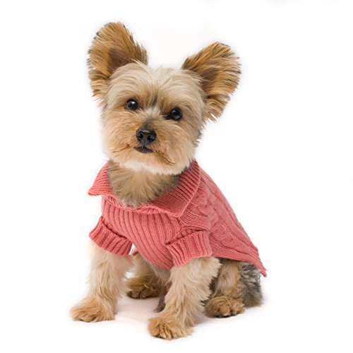 Stinky G Millennium Pink Aran Dog Sweater Size #10 Small