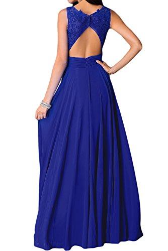DunkelGruen 56 Damen Tanzenkleider Chiffon Lang Charmeuse Elegant Abendkleider Rundkragen Missdressy Aermellos Applikation Partykleider Festkleider Oq7Zwnd