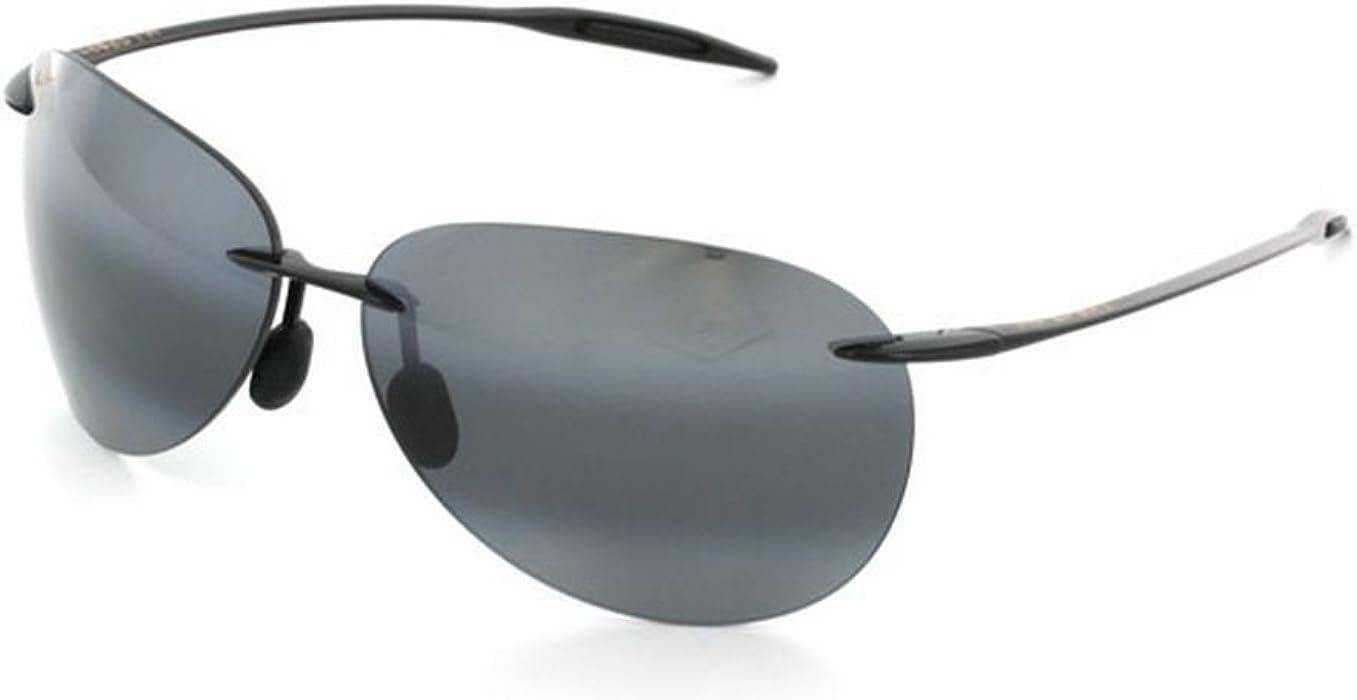 3461b058ef2 Men's Sugar Beach 421-02 Black Rimless Sunglasses. Back. Double-tap to zoom