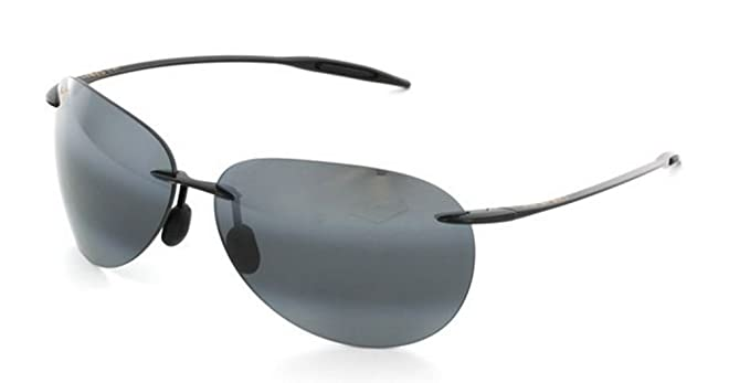 c602c66a130 Image Unavailable. Image not available for. Colour  Maui Jim Men s Sugar  Beach 421-02 Black Rimless Sunglasses