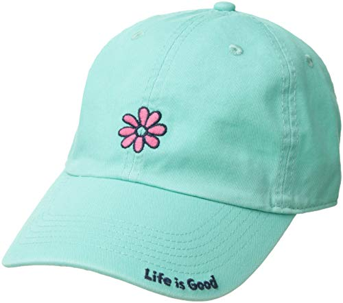 Life is Good Chill Cap Baseball Hat Collection,Daisy,Cool Aqua ()