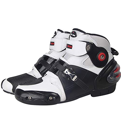 Chaussures Vitesse Motocross Moto Doux 9 Etbotu Red Homme Antidérapant Noir De 8 Étanche Motard Bottes nvwYfqY0