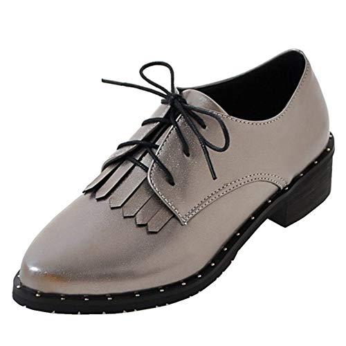 Chaussures Eleemee Punk Gris Lacets Femme Derbiess gA1qAaw