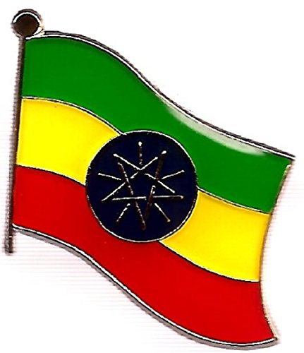 """Backwoods Barnaby Ethiopia Flag Pin/International Travel Pins Collections by (0.75"""" x 0.75"""")"""