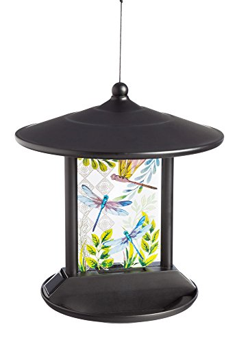 Evergreen Garden of Dragonflies Solar Hanging Bird ()