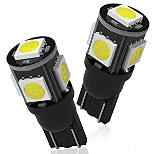YITAMOTOR White T10 194 W5W 2825 5SMD LED Bulbs for Car Replacement Interior Dome Lights, Exterior License Plate Light Lamp (Pack of 20)