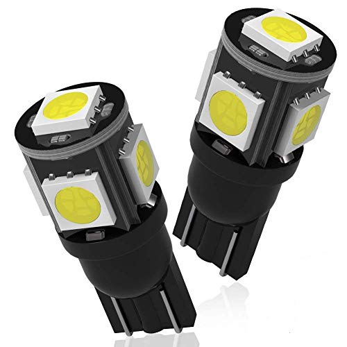 YITAMOTOR White T10 194 W5W 2825 5SMD LED Bulbs...