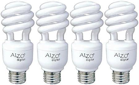 ALZO 15W Joyous Light Full Spectrum CFL Light Bulb 5500K 120V 750 Lumens Daylight White Light ALZO Digital 1855-55-04-JL Pack of 4