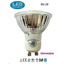 2-PACK LED Republic UL LED 5-Watt Dimmable GU10 MR16 High Power 50W Equivalent, Daylight White Light Bulbs,6000K UL Listed, Energy star certified