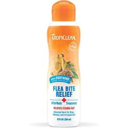 Tropiclean Natural Flea and Tick AfterBath Treatment, Relieves Itching and Irritation from Flea Bites Fast with Oatmeal and Cocoa Butter, 12 oz.