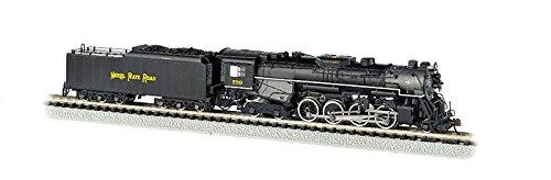 Bachmann N Scale Train Steam Loco 2-8-4 Berkshire DCC Sound Equipped Nickel Plate #759 - Railfan Version 50952