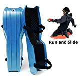 Sled Legs Wearable Snow Sleds - Fun Winter Accessories with Leg Support - Family Friendly Winter Activities - Exciting Winter Fun in The Snow (Winter Blue, Small)