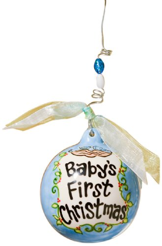 - Glory Haus Baby's First Birds in Nest Ball Ornament, 4 by 4-Inch, Blue