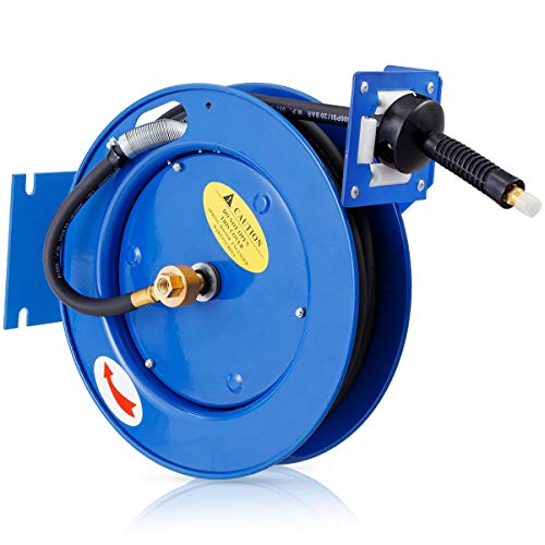 "300 PSI 3/8"" x 25' Auto Rewind Retractable Compressor Hose Reel Business Hydraulics, Pneumatics, Pumps & Plumbing Pipe Tubing Home Tools & Workshop Equipment Parts & Accessories Hardware, Trade from Lek Store"