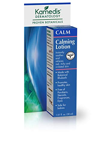 Kamedis Calming Lotion for Sensitive Skin, Soothing Treatment with Proven Botanicals for Relief of Dry, Itchy, and Irritated Skin, Steroid-Free. Made in USA. 1.01 fl. Oz