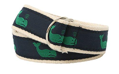 (Bean Belts Boy's Preppy Whales Belt (Large)