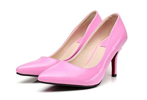 Pumps Red Rose Elegant On Shoes Toe Pointed Heel High Top Easemax Slip Low Womens Stiletto Solid Office paxOTTqZwf