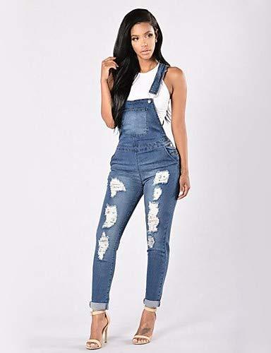 Tinta Da Blue pantaloni Donna Unita Skinny Chic Jeans Yfltz Lavoro PwCqSS
