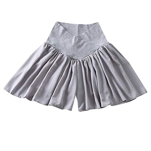 Women Maternity Shorts Skirt Pants Pregnancy Casual Low Waist Pants Chiffon ()