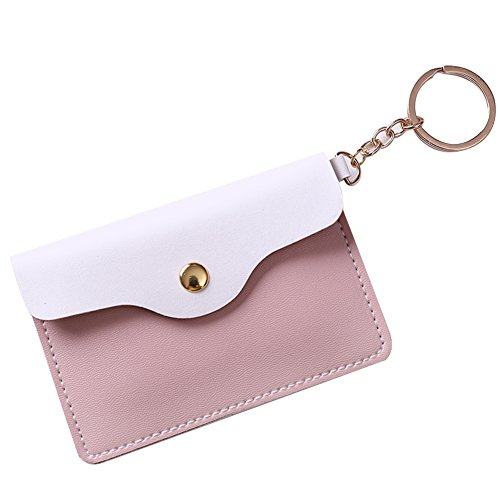 Brave669 Lovely Faux Leather Women Girls Coin Purse Card Bag Mini Wallet with Keyring