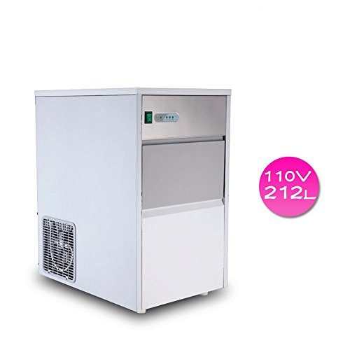 Finlon Stainless Steel Commercial Ice Maker Portable Ice Cube Freestanding Machine Restaurant (110V,55 lb/25kg) by Finlon