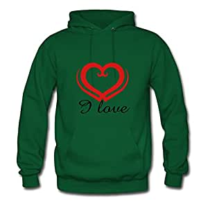 Women Valentine's Day - I Love Painting Sweatshirts Green Creative Shirts With X-large
