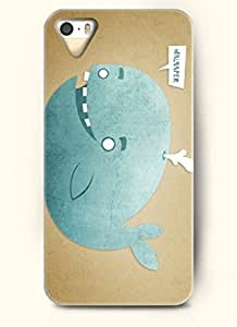 OOFIT Phone Case Design with Whale Squirting Water for Apple iPhone 5 5s 5g