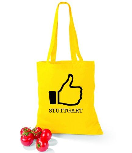 Artdiktat Baumwolltasche I like Stuttgart Yellow xt9lMJ