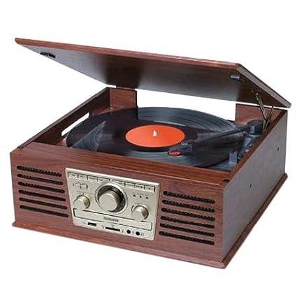 Telefunken Tocadiscos Vinilo con Radio/ CD Retro Vintage: Amazon ...