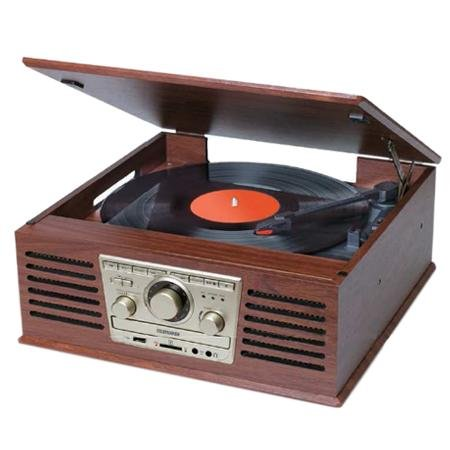 Telefunken Tocadiscos Vinilo con Radio/ CD Retro Vintage