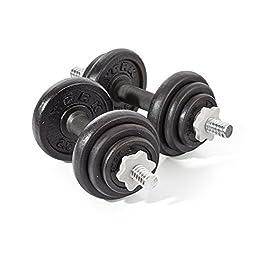 York Fitness 20kg Spinlock Dumbbell – Black