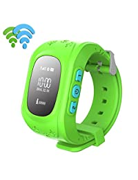 Nicerokaka Anti-lost Children Bluetooth Smart Watch With GPS Positioning For Android (Green)