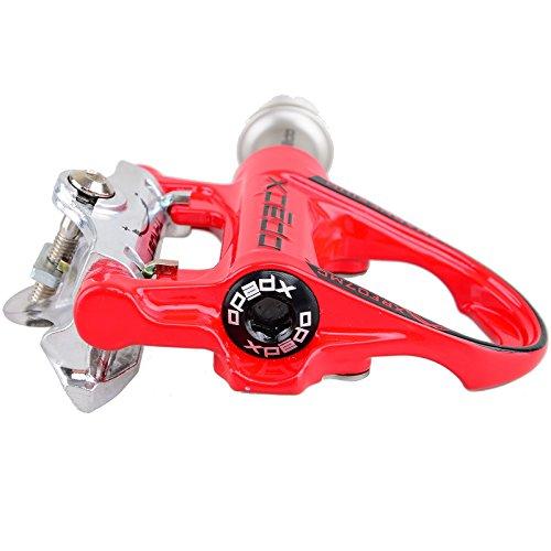 KUKOME Sidebike Road Cycling Schuhe & Pedale in verschiedenen Größen und Farben Schwarz Rot + Rot