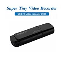 Mengshen Full HD 1080p USB Stick Covert Spycam Mini DVR Hidden Camera Surviellant video recorder with Motion Detection Support IR Night Vision MS-U838