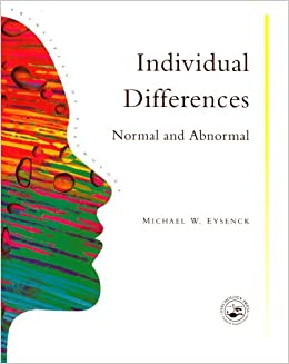 Book Individual Differences: Normal And Abnormal (Principles of Psychology)