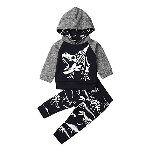 Hailouhai Peuter Baby Jongens Outfits Set Lange Mouwen Lady Killer Gedrukt Hoodies Top + Lange Leggings Camouflage…