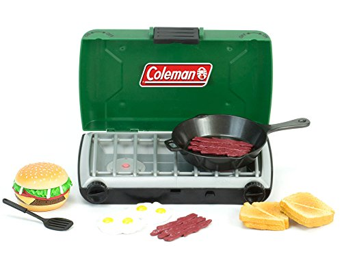 Green Coleman 18 Inch Doll Camping Stove & Food Set with Frying Pan Perfect for American Girl Dolls & More! 18 Inch Doll Green Coleman Campfire Stove and Mini Doll Food Set, by Sophia's