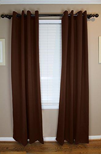 Calyx Interiors Blackout Grommet Curtain 2-Pack Set, 52