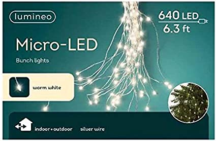 6 Foot Warm White Micro Led Bunch Christmas Lights Indoor Outdoor 640 Lights Amazon Ca Patio Lawn Garden